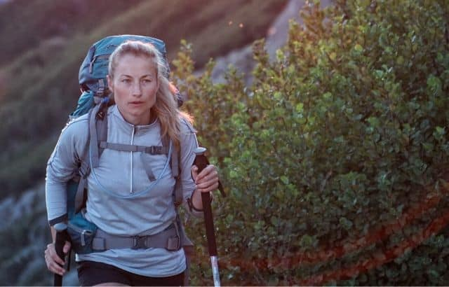 how to hold trekking pole