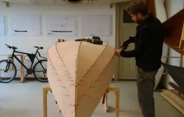 homemade fiberglass kayak