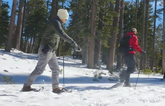 how to get in shape for snowshoeing