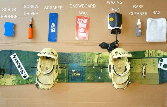 how to wax a snowboard without an iron