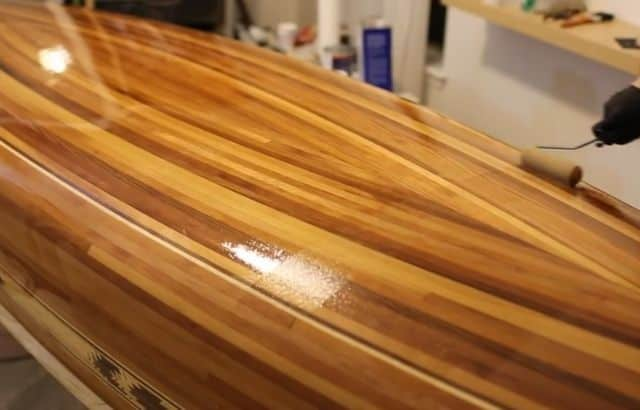 varnish kayak