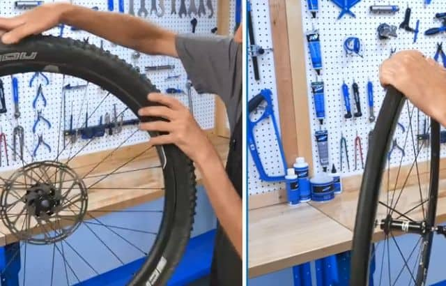 how to change a mountain bike tube