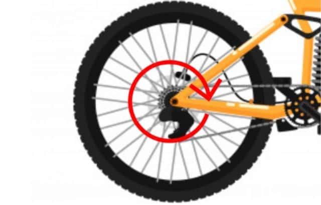 how to change inner tube on rear wheel of bike