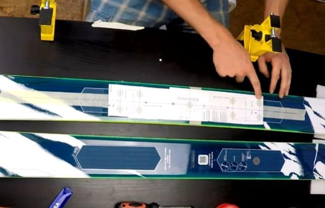 how to mount ski bindings without a jig