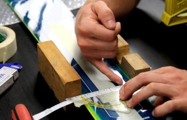 ski binding mounting plate