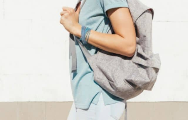 street style backpack men
