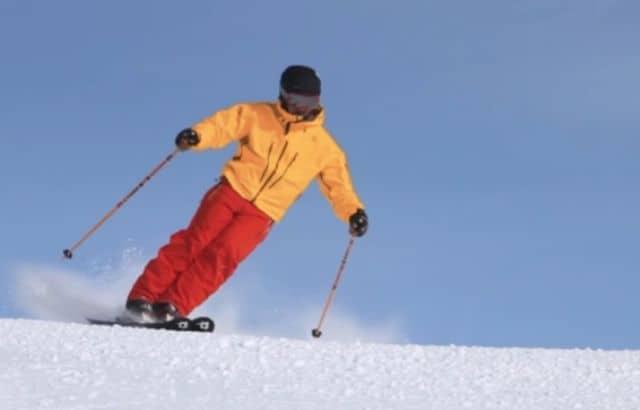 how to lean forward when ski