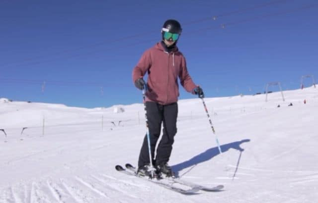 my first time skiing
