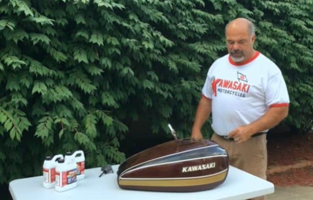 How to Clean Your Motorcycle Tank