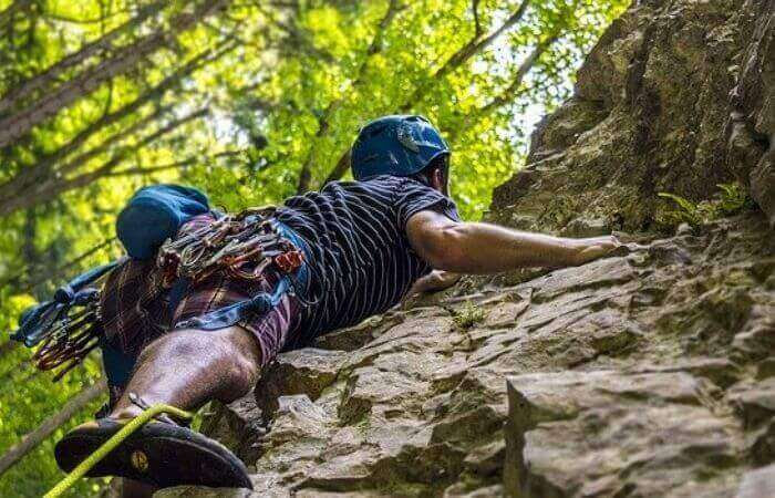 What is Trad Climbing