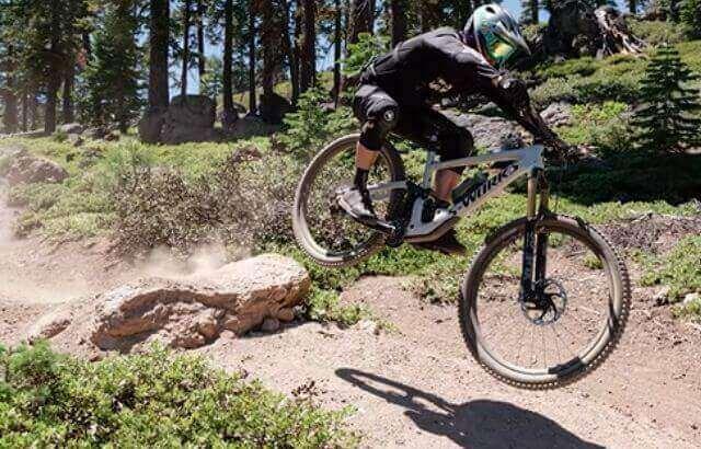 mountain bike riding