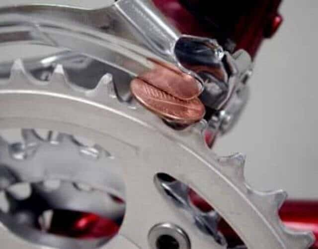 how to adjust the front derailleur