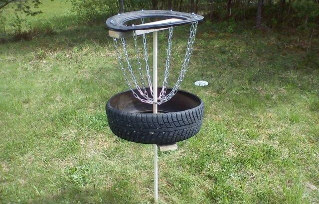 how to make a disc golf basket at home