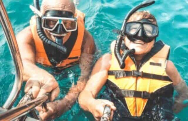 open water swimming snorkel